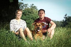 Melanie & Frank mit Robby