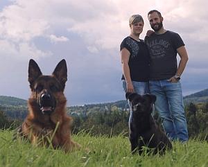 Julia & Bastian mit Gino vom Haus Schmitteborn und Loki