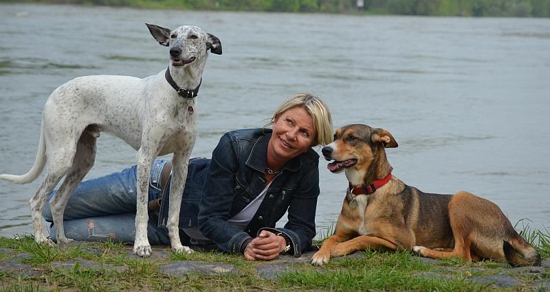 Annette mit Marie & Taci